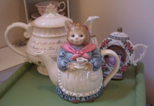 Whimsical teapot from Set to a Tea private collection
