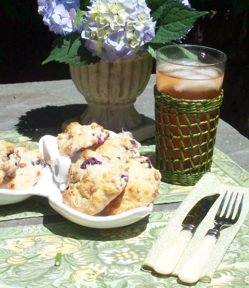 Blueberry Buckle Scones