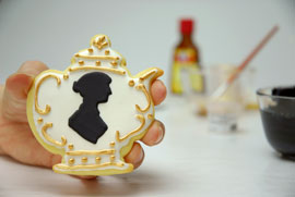 Jane auten teapot cookie